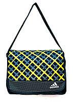 Сумка портфель адидас клетка 8870 (3 цвета), сумка универсальная, сумка для учебы, сумки недорого, дропшиппинг