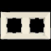 Рамка 2-я горизонтальная Viko Meridian крем