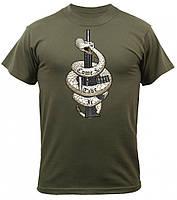 Футболка Military T-Shirt - Olive Drab (Come & Take It Logo)