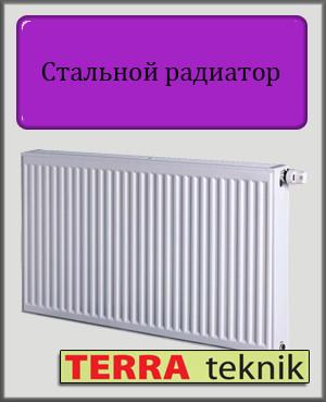 Стальной радиатор 22 тип 500х600 TERRA teknik (нижнее подключение)