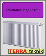 Стальной радиатор 22 тип 500х1300 TERRA teknik (нижнее подключение)