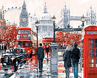 Раскраски по номерам 50×65 см. Очарование лондона Художник Ричард Макнейл