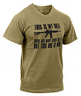 Rothco Military Printed T-Shirt - Coyote / This Is My Rifle