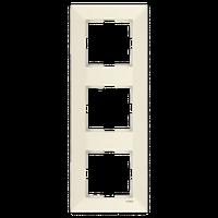 Рамка 3-я вертикальная Viko Meridian крем