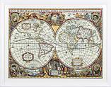 """Набір для вишивки хрестом """"Panna"""" Географічна карта світу ПЗ-1842, фото 2"""