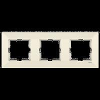 Рамка 3-я горизонтальная Viko Meridian крем