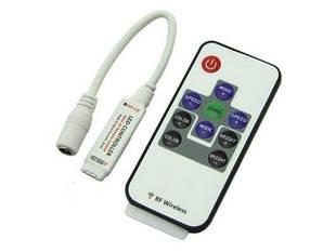 Мини контроллер для LED RGB ленты с радио пультом 12А Код.57270