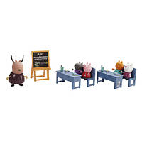 Игровой набор Peppa - ИДЕМ В ШКОЛУ (класс, 5 фигурок)