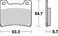 Тормозные колодки Braking 661SM1