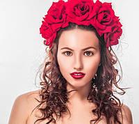 Венки, ободки с цветами для волос, обручи