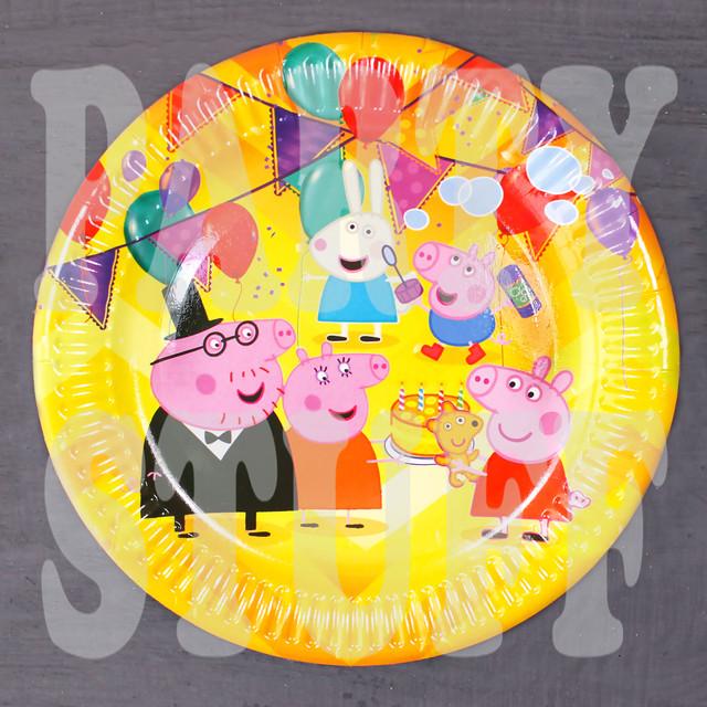 тарелка картонная Свинка Пеппа