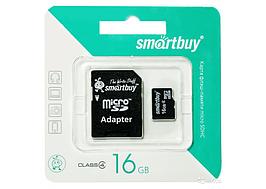 Карта памяти MicroSD 16 Gb 4 класс