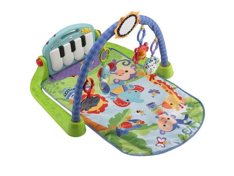 Fisher-Price Развивающий коврик Пианино зеленый Kick and Play Piano Gym
