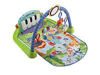 Fisher-Price Развивающий коврик Пианино зеленый Kick and Play Piano Gym, фото 1