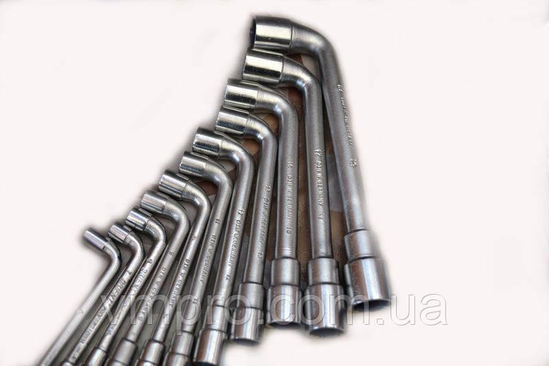Ключ L-подібний файковый 6 мм, DIN , Cr-V (двосторонній)
