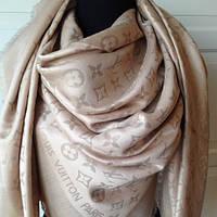 Палантин шаль  женская шелковая Louis Vuitton с люрексом,  шикарный аксессуар