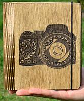 """Блокнот из дерева """"Фотоаппарат"""", А5"""