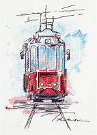 """Набор для вышивки крестом """"Panna"""" Городской трамвай ГМ-1923"""