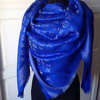 Палантин шаль шарф женский шелковый Louis Vuitton с люрексом,  шикарный аксессуар