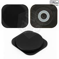 Пластик кнопки меню для мобильного телефона Apple iPhone 5C, черный