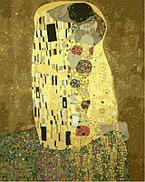 Раскраски по номерам 40×50 см. Золотой поцелуй Художник Густав Климт