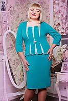 Платье женское больших размеров Ружана бирюза, размер 50, 52, 54, 56, 58