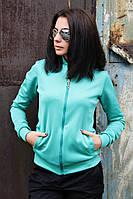 Бомбер женский однотонный (5 цветов), женская одежда от производителя, недорого, дропшиппинг поставщик