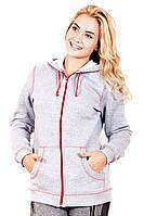 Кофта спортивная 422 флис (2 цвета), женская одежда от производителя, недорого, дропшиппинг поставщик