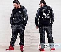 Спортивный костюм Ткань : плащевка + 3нитка(трикотаж) + подкладка флис . ТЕПЛЫЙ Цвет : черный роле №1041