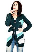 Кофта женская вязаная Радуга (3 цвета), женская вязанная кофта, теплая вязанная кофта, дропшиппинг