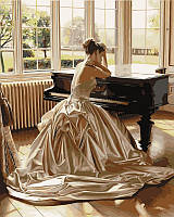 Раскраски по номерам 40×50 см. Девушка у рояля Художник Роб Хэфферан, фото 1