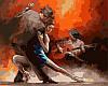 Раскраски по номерам 40×50 см. Горячий танец страсти танго Художник Вильям Хенритс