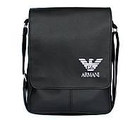 Мужская вместительная сумка через плечо (Kot Armani)