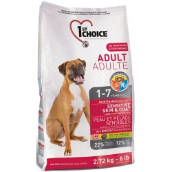 1st Choice ADULT SENSITIVE SKIN&COAT 2.72 кг - корм для собак с чувствительной кожей и шерстью