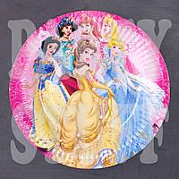 Картонные тарелки детские Дисней Принцессы 18 см (10 шт)