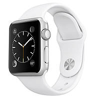 Умные часы Apple Watch 42mm Series 2 Stainless Steel Case with White Sport Band (MNPR2)