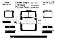 Декоративные накладки на панель приборов Peugeot Expert 2007-2016 12 элем