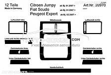 Тюнинг торпедо Peugeot Expert 2007-2016 12 элем