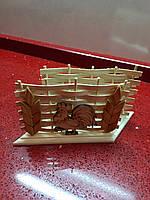 Салфетниця дерев'яна сувенірна на стіл