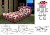 Кровать Барбара (поролон) 1.40 м., 1 категория ткани