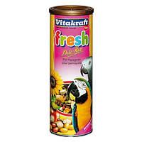 Корм Vitakraft 21167 Fresh Deli Mix для крупных попугаев с фруктами и орехами 300 г
