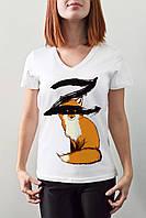 """Женская футболка """"Лисичка zorro"""""""