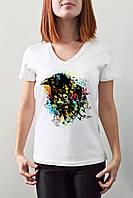 """Женская футболка """"Цветная ворона"""""""