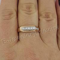 Серебряное мужское кольцо с позолотой «015», фото 1