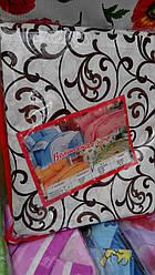 Постельный комплект Голд двуспальный с евро простыню  шоколадные завитки на светлом