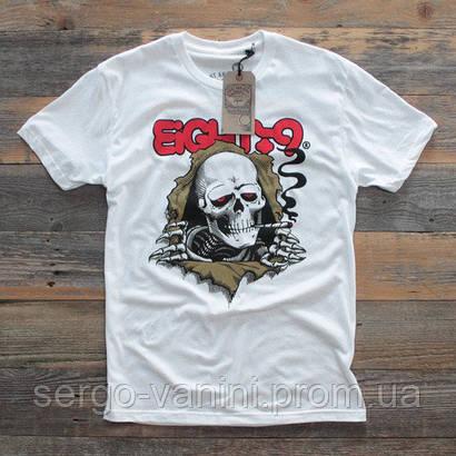 Футболка с принтом 8&9 Smoker Skeleton мужская