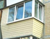 Балкон под ключ застекление обшивка
