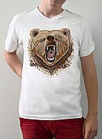 """Мужская футболка """"Пиксельный медведь"""""""