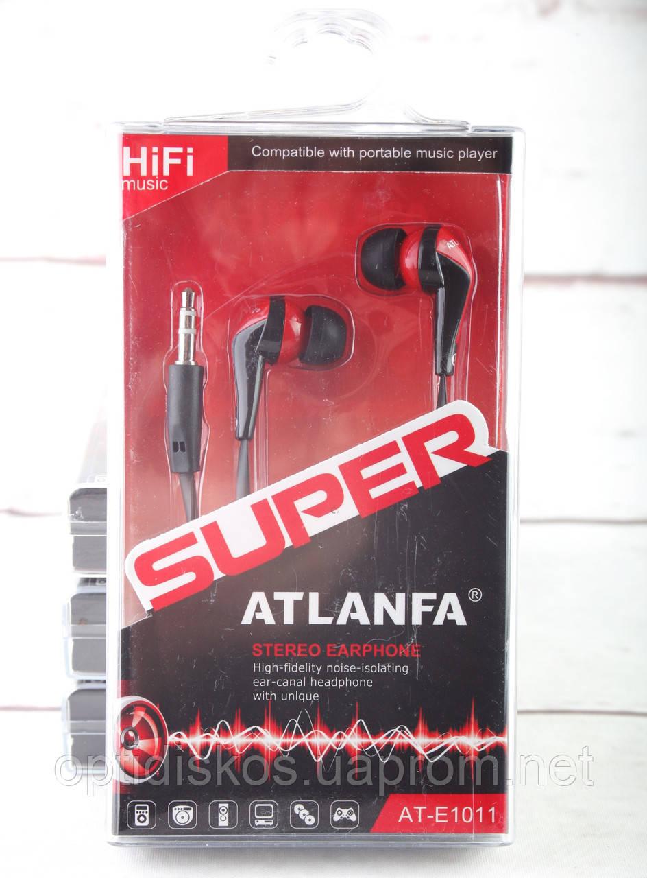 Наушники вакуумные Atlanfa AT-1011