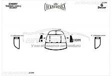 Тюнінг торпедо Чері Тігго з 6 елементів (наклейки)